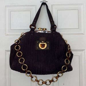 Marc Jacobs Quilted Cord Maggie Handbag Plum